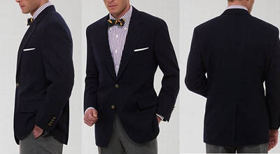This gentleman's jacket fits in all the right ways, yielding a very polished look.