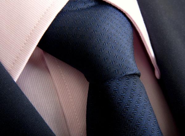 crisp tie and suit