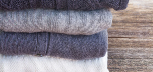 Fold your sweaters when storing them away for spring.