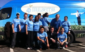 Some members of Team Mulberrys posing with the Mulberrys owner, Dan Miller.