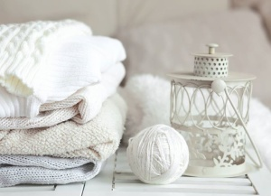 White sweaters and yarn