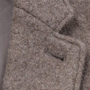 Boiled wool coat lapel