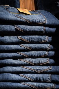 Wash jeans inside out to help keep their color. Our laundry guide has all the tips.