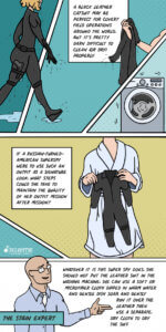 How a superhero cares for their leather costume